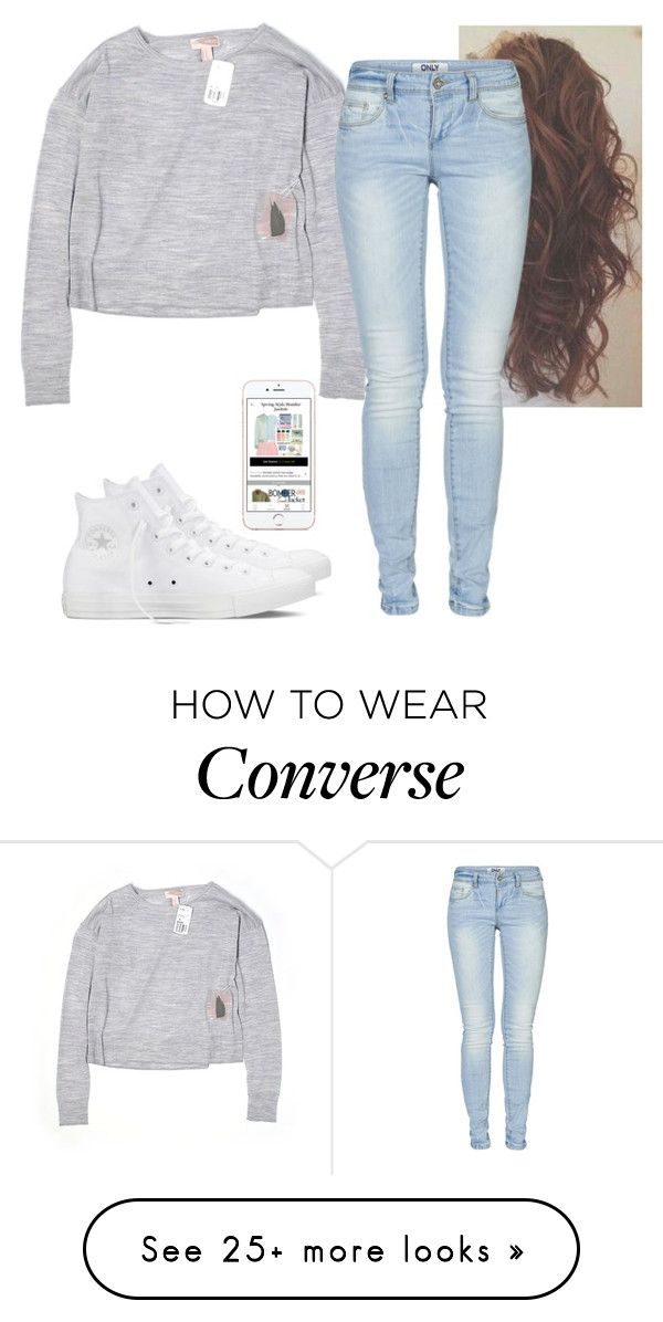 """Untitled #3473"" by hannahmcpherson12 on Polyvore featuring Forever 21, ONLY and Converse"