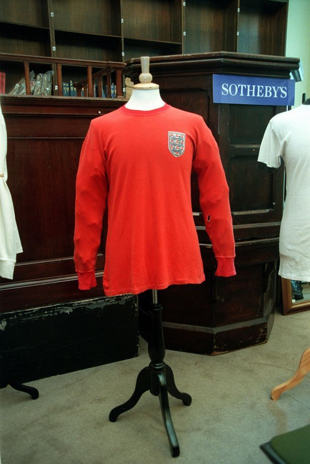 Geoff Hurst during the 1966 World Cup final The football shirt worn by Sir Geoff Hurst in the 1966 World Cup final is expected to fetch up to half a million pounds at auction. Born in Ashton-under-…