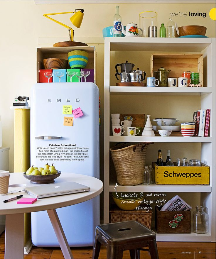vintage styling complete with the SMEG fridge