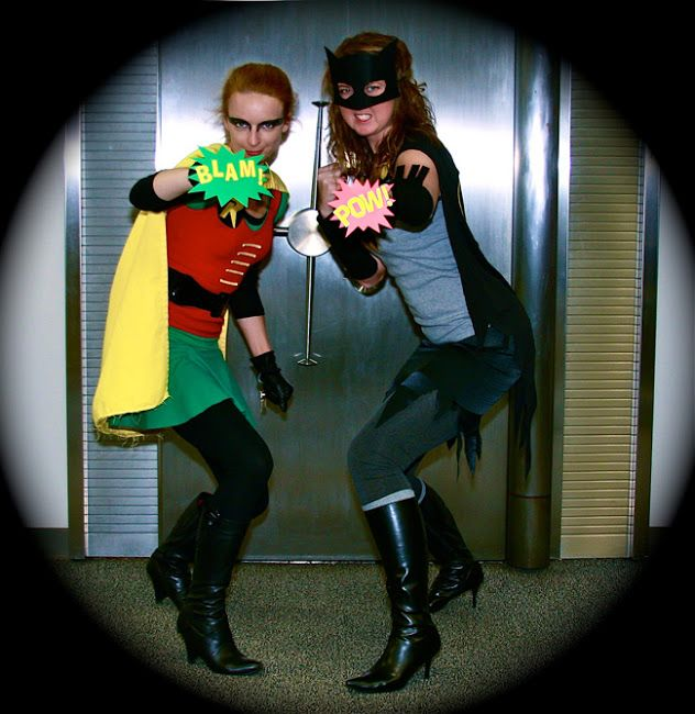 Burt Ward as Robin and Adam West as Batman \ - homemade halloween costume ideas men