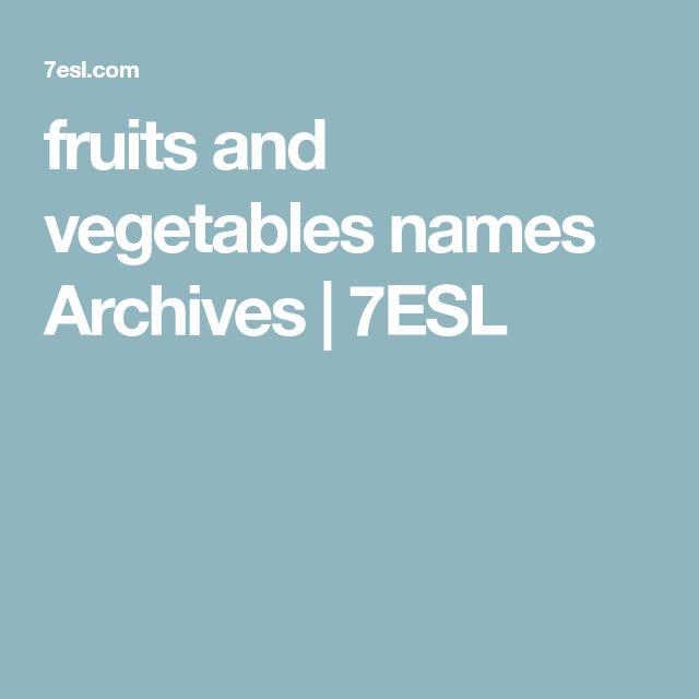 fruits and vegetables names Archives | 7ESL