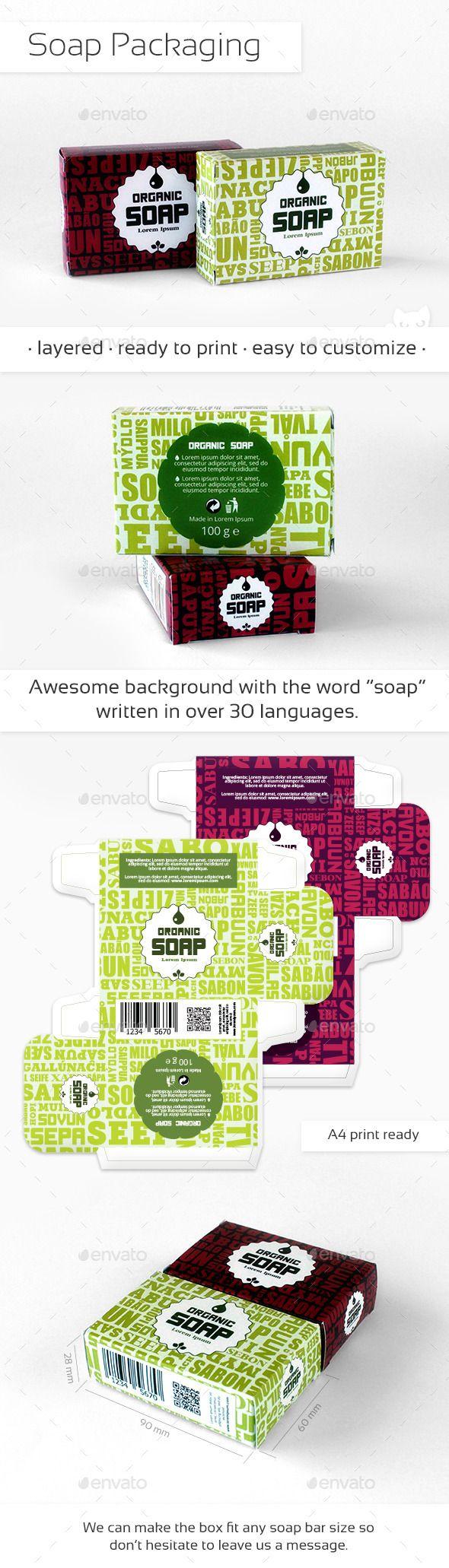 Organic Soap Packaging - Packaging Print Templates