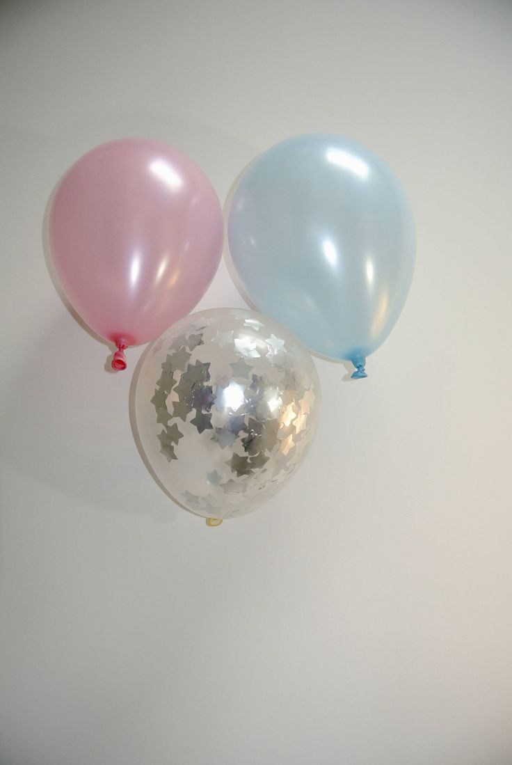 Confetti Balloon Silver. 12 inch. Pink and Silver Decor. Twinkle Twinkle Little Star Decor. Twinkle Twinkle Little Star Baby Shower by PaperRabbit87 on Etsy