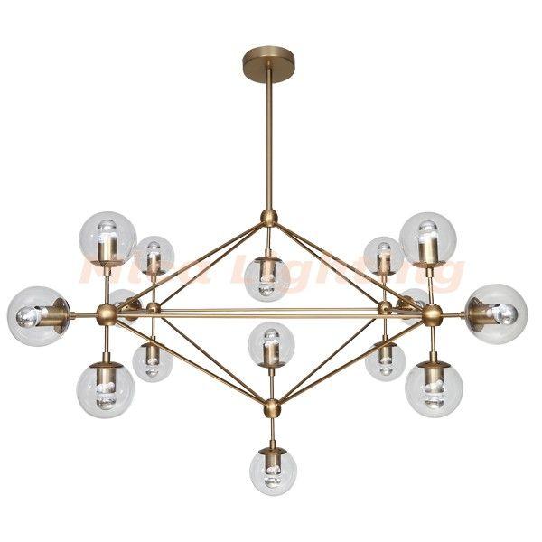 Burnished Brass Modo Replica Lighting Jason Miller Gold Chandelier 1190