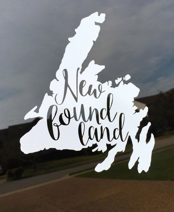 Newfoundland Cutout Decal Sticker Will Be Proudly On My