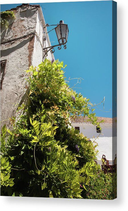 """Acrylic Print of photograph Picturesque Ronda by Jenny Rainbow.  Bring your artwork to life with the stylish lines and added depth of an acrylic print. Your image gets printed directly onto the back of a 1/4"""" thick sheet of clear acrylic. The high gloss of the acrylic sheet complements the rich colors of any image to produce stunning results. To buy print please click on image. Order online, delivery, 30 days money back guaranty. #JennyRainbowFineArtPhotography #Spain #HomeDecor"""