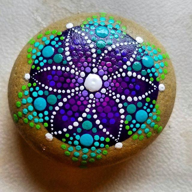 Purple star flower mandala
