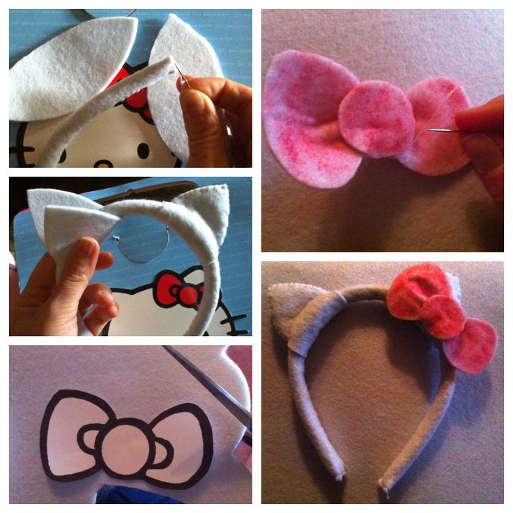 My handmade out of felt Hello Kitty ears and bow.