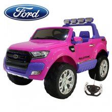 24v powered licensed battery powered ride on ford ranger in pink