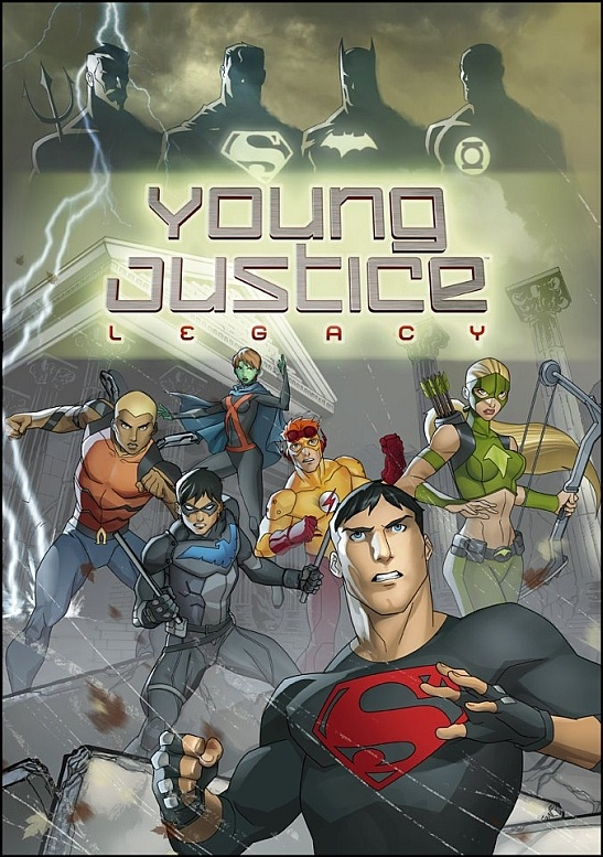The cover art for the upcoming Young Justice: Legacy video game
