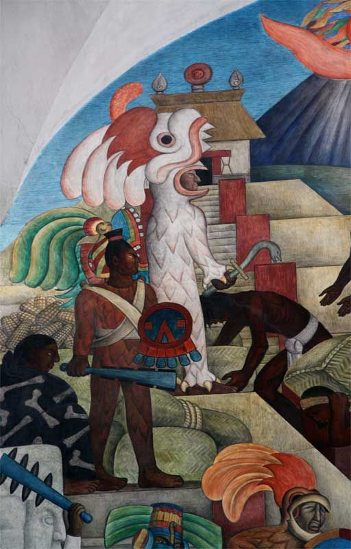 373 best diego rivera images on pinterest diego rivera for Mural quetzalcoatl