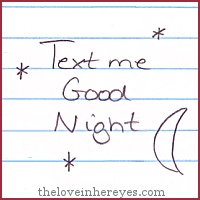 Text me goodnight