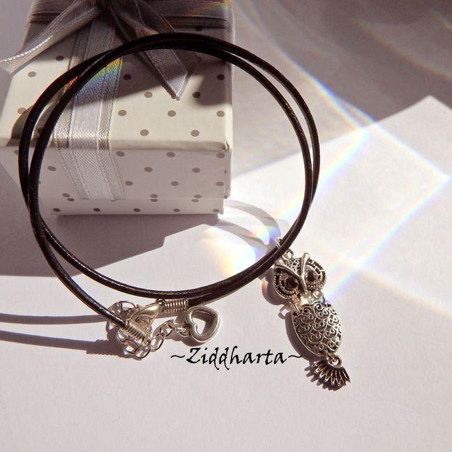 AS OWL Necklace Antique Silver Finish handmade Pendant Eule Halskette Kragen Halsband Uggla Necklace - Jewelry Handmade by Ziddharta by Ziddharta on Etsy