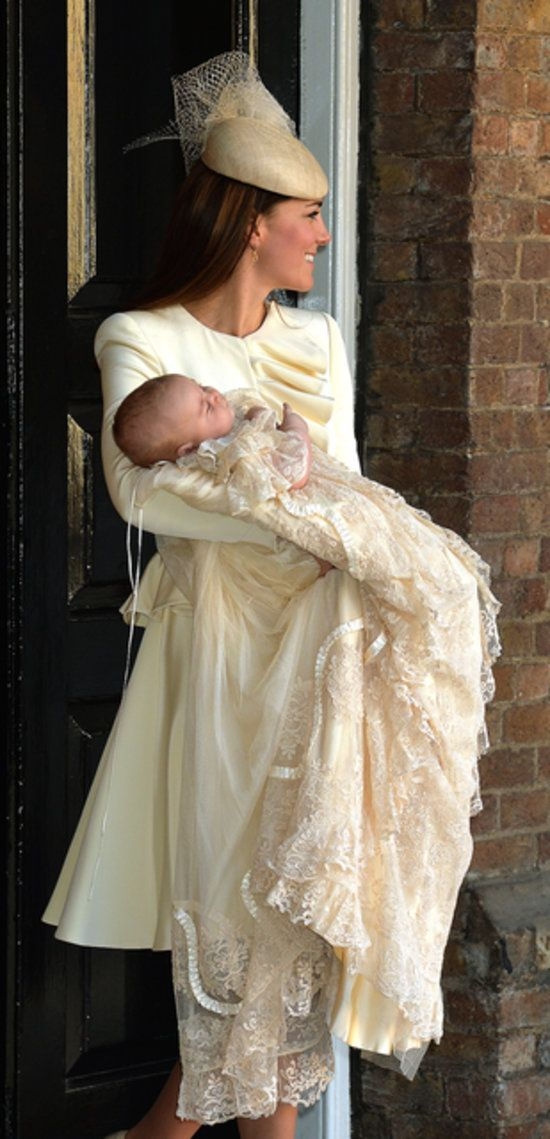 All the Photos From Prince George's Christening: Carole Middleton was on hand for the ceremony. : Godmother Zara Tindall and her husband, Mike Tindall, left the christening.  : The Queen and Prince Philip attended their great-grandson's christening. : The queen and Prince Philip, Duke of Edinburgh, arrived at the christening.