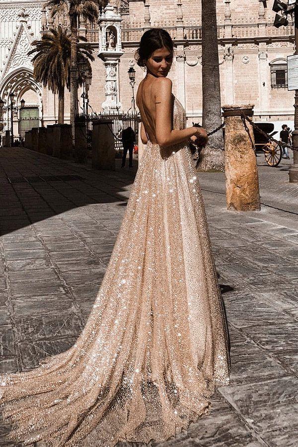 f04fe7ea87 Hualong Sexy Floor Length Long V Neck Prom Dress  bridesmaid   bridesmaiddresses  wedding