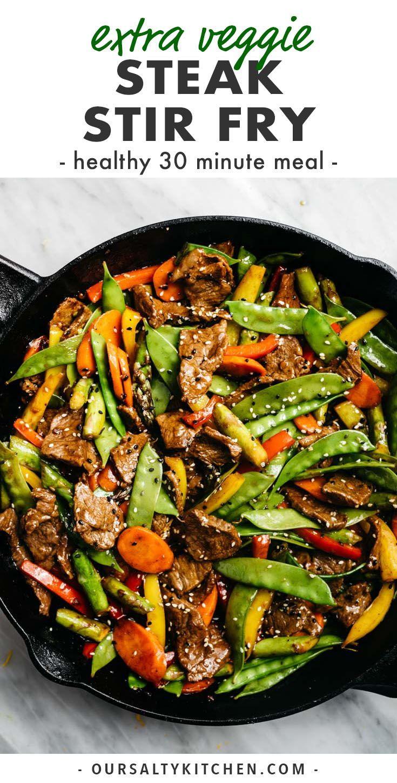 Mostly Vegetable Steak Stir Fry Recipe Clean Dinner Recipes Steak Stir Fry Clean Eating Dinner