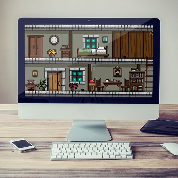 Indoor House Ornaments and Background for game developers