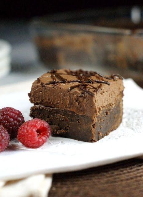 Raspberry-Truffle Brownie Bars Recipe — Dishmaps