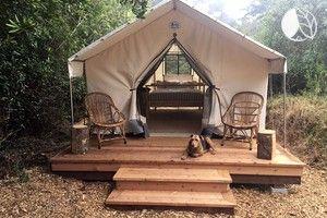 Camping de tente pacifique Safari dans les forêts côtières près de San Francisco  – camping-hacks
