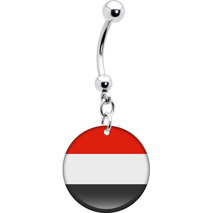 Yemen Flag Belly Ring