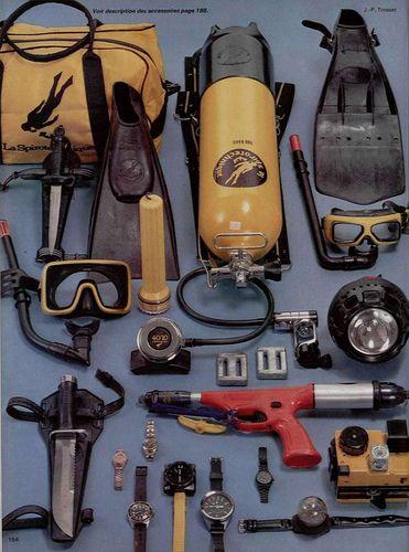 vintage scuba diving accessories 1978