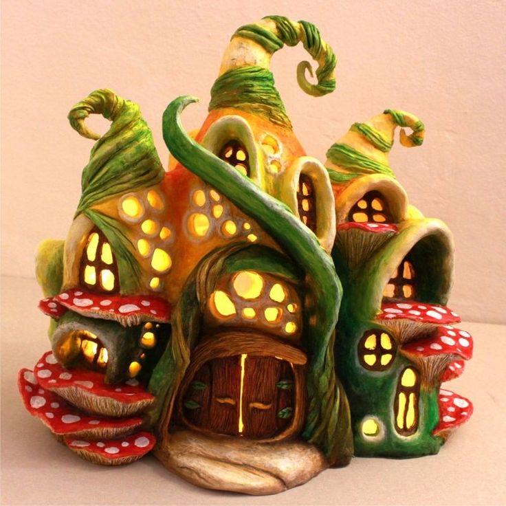 fairy house lamp using plastic bottles