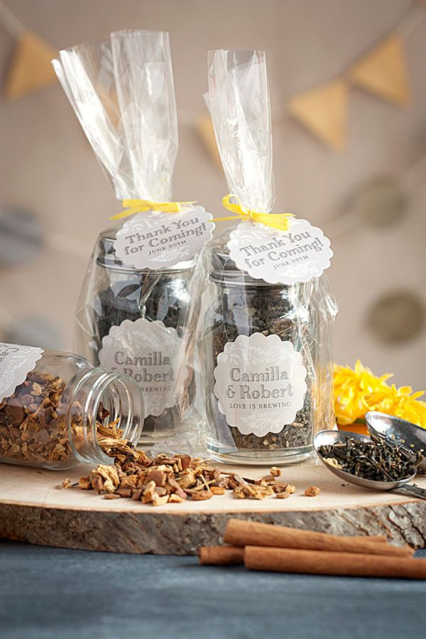 Diy tea favors