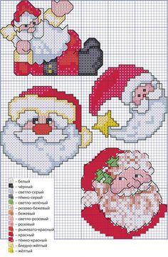 Babbo Natale punto croce