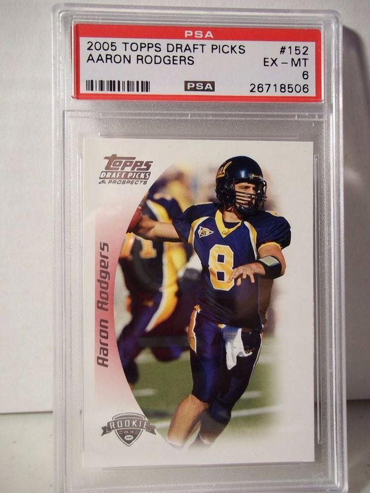 2005 Topps Draft Picks Aaron Rodgers Rookie PSA EX-MT 6 Football Card #152 NFL #GreenBayPackers