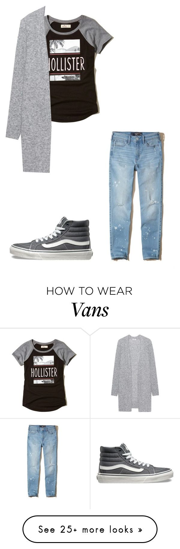 """""""Untitled #249"""" by lockwoodzaki on Polyvore featuring Hollister Co., Vans and Acne Studios"""