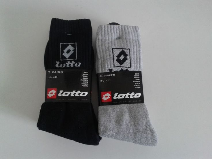 6 Pairs Original Brand Athletic Lotto Long Socks Sport Fitness Running Footwear #Lotto #Athletic
