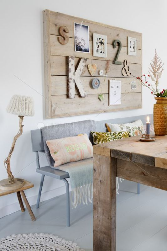 Prikbord / moodboard steigerhout 90x120cm