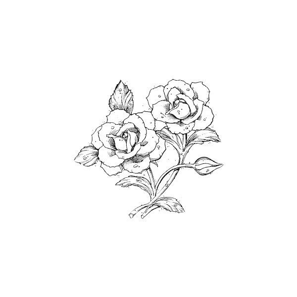 Flowers 13: Rubber Stamps: Online Catalog: The Stampin' Place: Rubber... ❤ liked on Polyvore