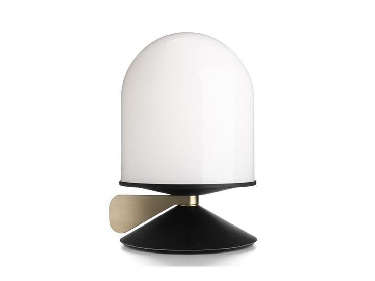 Glass bedside lamp VINGE by Örsjö Belysning