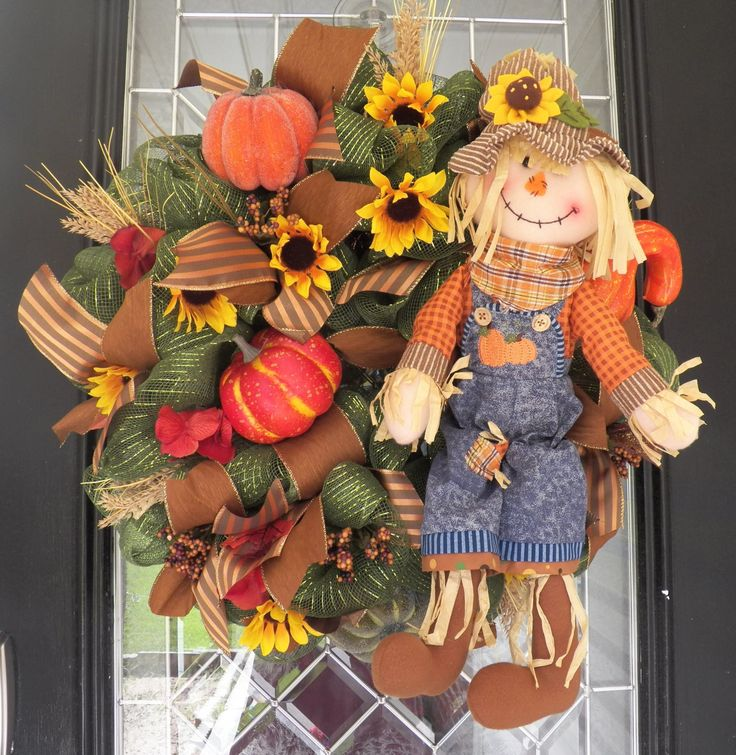 Deluxe Fall Wreath, Front Door Wreath, Deco Mesh Wreath, Fall Decoration, Door Hanger, Wreath for Door, Ready to Ship by OccasionsBoutique on Etsy