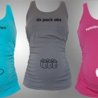 Maternity fitness tanks with cute pregnancy quotes. What do you think?