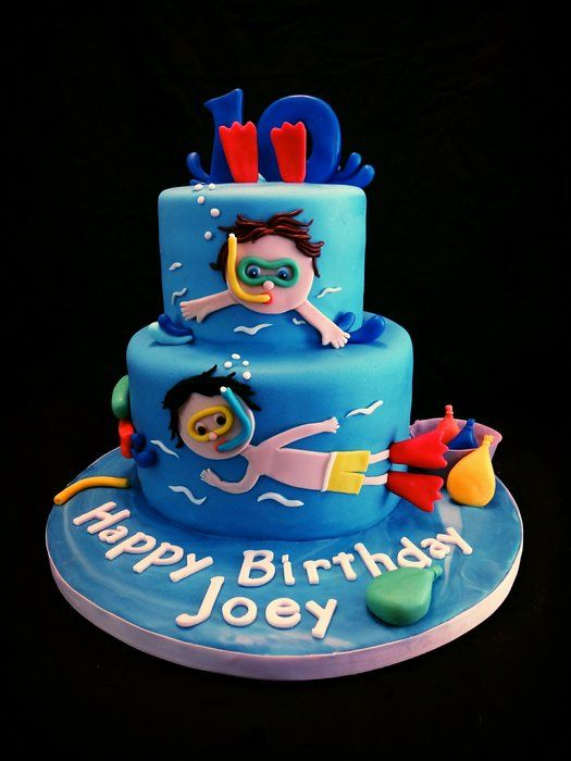 Pool Party Cake - by BellaCakes & Confections @ CakesDecor.com - cake decorating website