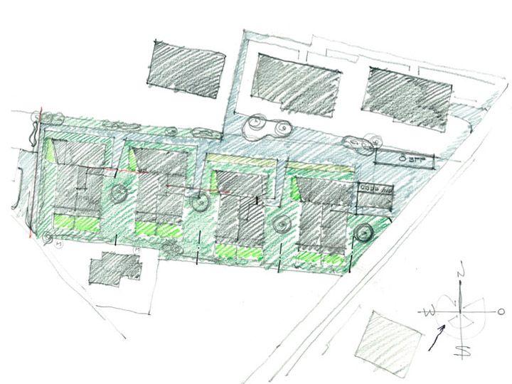 Skizze LivingBerneck | Carlos Martinez Architekten