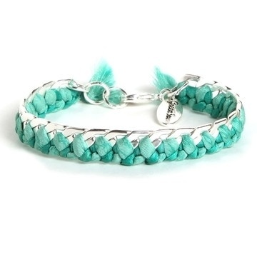 braided bracelet in turquoise