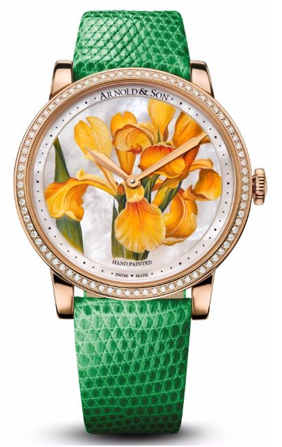 Женские часы Arnold & Son 1LCMP.M05A.L510A Royal Collection HM Flowers - золотые - швейцарские женские наручные часы