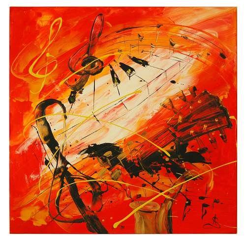 Stanislaw Achrem Kunst Abstraktes Diverse Musik Moderne Abstrakte Kunst