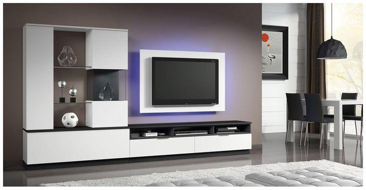 Mueble tv moderno de madera lacado eli 8922 baixmoduls Muebles para tv modernos