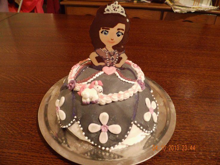 princesse sofia gateau 3d p te a sucre cake creme pinterest. Black Bedroom Furniture Sets. Home Design Ideas