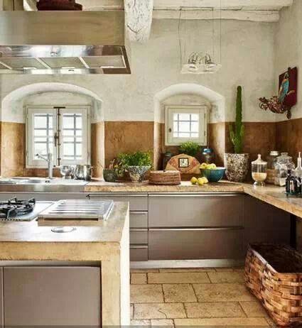 Qu te parece el estilo toscano para la cocina puedes - Como decorar una cocina rustica ...