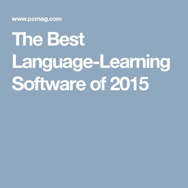 The Best Language-Learning Software of 2015
