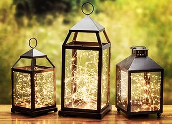 Fairy lights, Great buy, Battery operated led lights with the smallest battery pack on the market for a strand of suspended stars✨ LANTERNS SOLD SEPERATELY Starry lights✨ Gorgeous lights on a copper c #WeddingDecorations