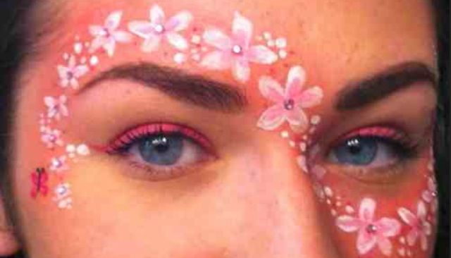 Flowers around eyes