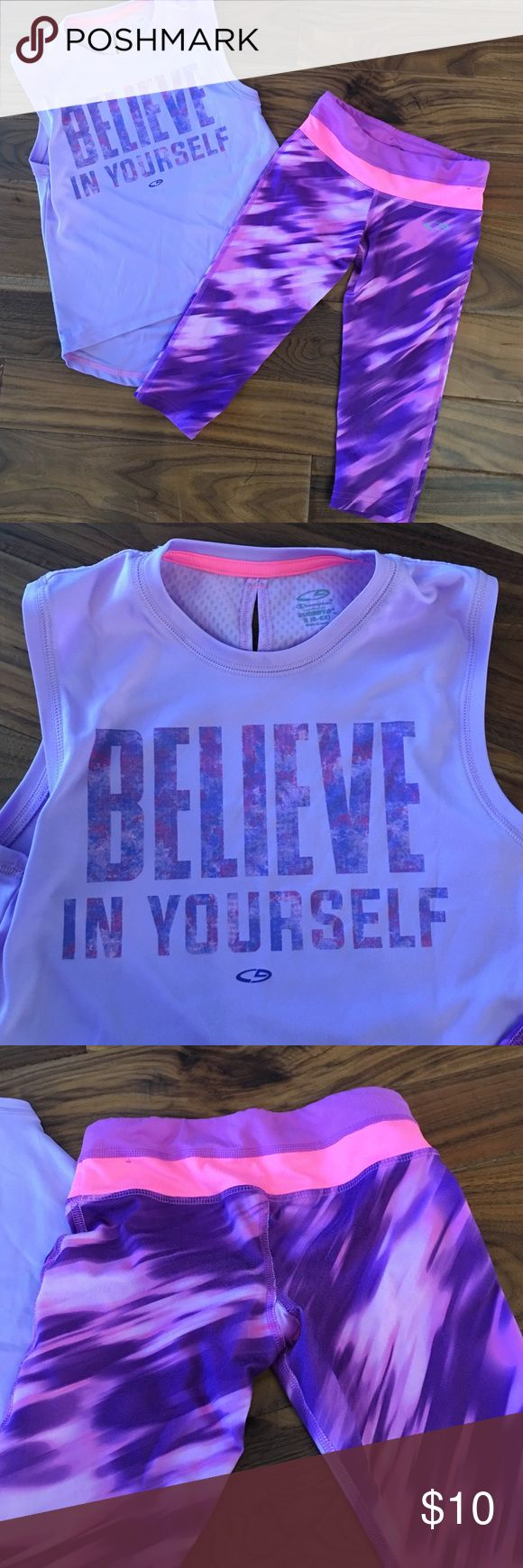 Child's active outfit Champion brand purple active outfit size 6x. champion  Matching Sets
