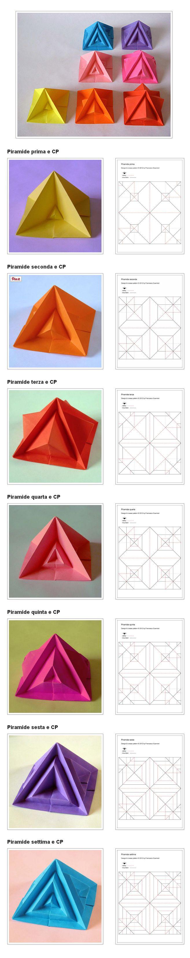 211 Best Images On Pinterest Crafts Napkin Folding And 3d Origami Swan Diagram Http Howtoorigamicom Origamiswanhtml Piramide Settima E Varianti Seventh Pyramid Variants By Francesco Guarnieri