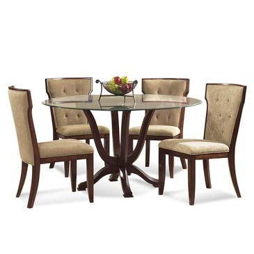 arlington round sienna pedestal dining room table w chestnut finish. shop for bassett mirror company serenity casual dining set, and other room tables at elite interiors in myrtle beach, sc. arlington round sienna pedestal table w chestnut finish